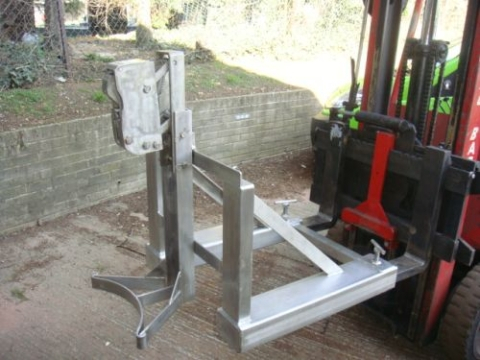 Grab-O-Matic ATEX Stainless Steel Single Drum Handler
