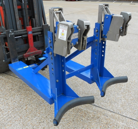 Grab-O-Matic ATEX Stainless Steel Twin Head Double Drum Handler