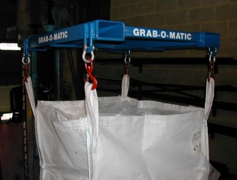 Grab-O-Matic Bag Transfer Fork Attachment