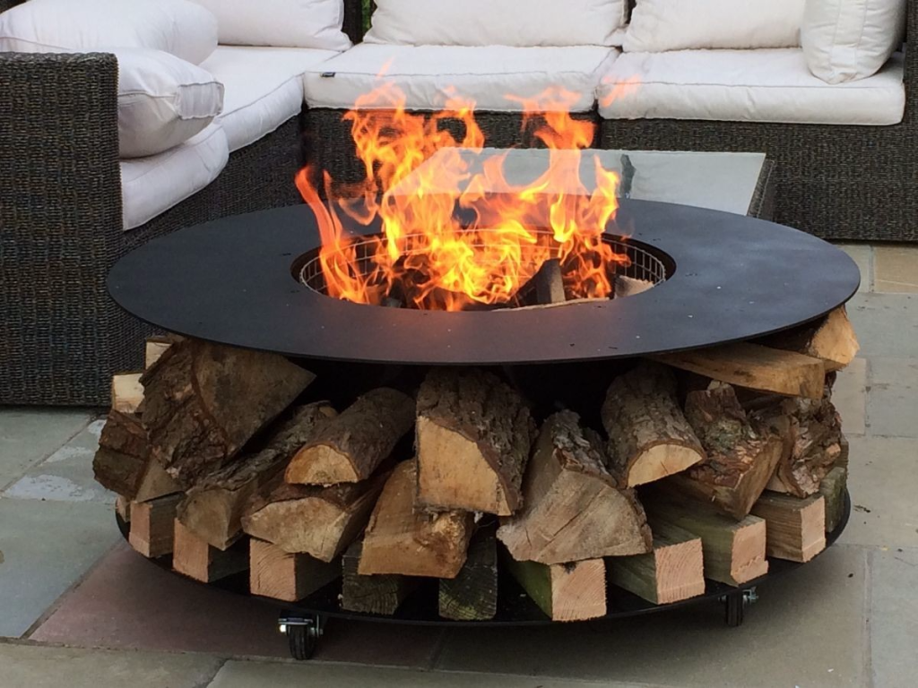 Deluxe Log Fire Pit