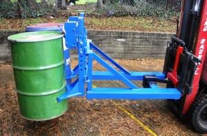 Grab-O-Matic mechanical fork lift drum handling attachments
